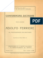 Adolfo Ferriere_Conferencias Chile 1930