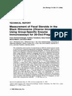 1996 - Black Rhinoceros Measurement of Fecal - ZOO BIOL