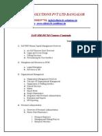 SAP HR Course Contents
