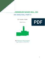 Minimum Wages Bill, 2013 Analysis, Part II