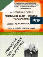 FÓRMULA DE DARCY – WEISBACH Y APLICACIONES