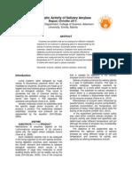 Enzymati Activity of Salivary Amylase