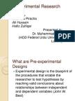 Experimental Research- Research Design