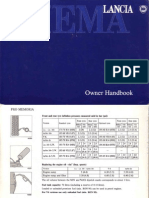 Lancia Thema 16 v Owner Handbook