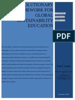 An Evolutionary Framework for Global Sustainability Education