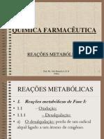 2 - REAÇÕES METABÓLICAS