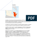 Presentation Sur Le Quebec