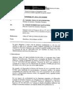 Informe Ministerio de Justicia