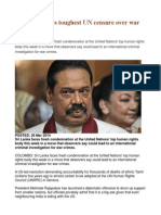 Sri Lanka Faces Toughest UN Censure Over War Crimes