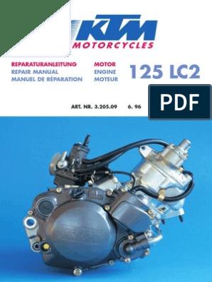 KTM 125 LC2 Engine Repair Manual | Piston | Bearing (Mechanical)