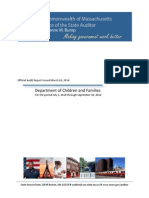 Massachusetts auditor's report of the Department of Children and Families