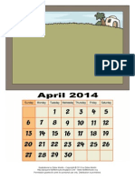 Paper Model_3D Calendar Old Testament_April 2014