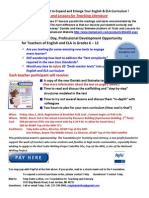 2014 Texts Lessons Literature PD Flier May 2