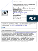 Jim Parry - The Power of Sport in Peacemaking and Peacekeeping
