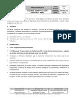 P-sig-18 Procedimiento Equipos de Proteccion Personal Rev 04