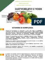 Vitamini Rastvorljivi u Vodi