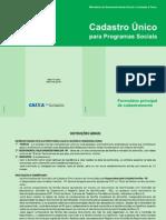 Formulario Principal Cadastro Único para Programas Sociais - Marcado