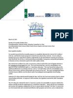 Letter to Legislative Leaders Re C4E Law