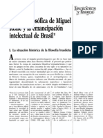 La Obra Filosofica de Miguel Reale y La Emancipacion Intelectual de Brasil