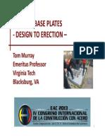 Column Base Plates Prof Thomas Murray