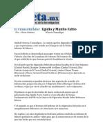 25-03-2014 La Gaceta.mx - El Francotirador   Egidio y Manlio Fabio.