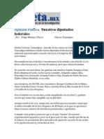 25-03-2014 La Gaceta.mx - Opinión Pública   Nuestros diputados federales .