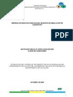 PLIEGO DE CONDICIONES INVIT PUBL N° ESPD-LIQ 004