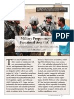 25 Military Proponency--Functional Area (FA) 51 200904