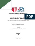 CORRUPCIÓN DE FUNCIONARIOS - Proyecto de Investigación
