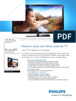Philips Electronics NV - 32PFL3007D78 Philips TV LCD Com Digital Crystal Clear