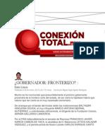 26-03-2014 Conexión Total.mx - Gobernador Fronterizo.