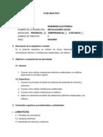 PLAN ANALITICO - Instalaciones Civiles