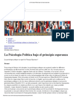 La Psicología Política bajo el principio esperanza
