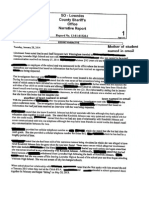 Kendrick Johnson Email confession Incident Report Redacted