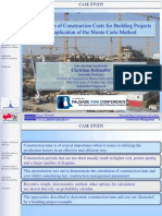Christian Hofstadler - Calculation of Construction Costs for Building Projects - Application of the Monte Carlo Method