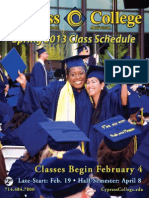 Cypress College Spring 2013 Class Schedule