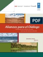 Prevención de conflictos sociales en el uso de recursos naturales