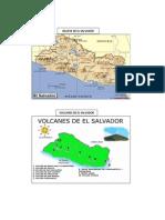 Relieve de El Salvador, Volcanes de El Salvador, Hidrografia de El Salvador, Puertos y Aeropuertos de El Salvador