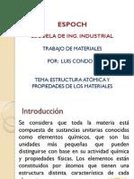 Estructura Atomica y Propiedades de Los Materiales