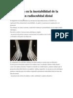 Radiología en la inestabilidad de la articulación radiocubital