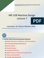 ME-328 Machine Design - Lecture 7