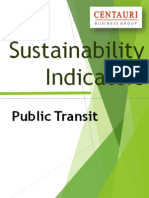 Making Sustainability Work in Public Transit