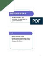Kuliah 4 Sistem Linear