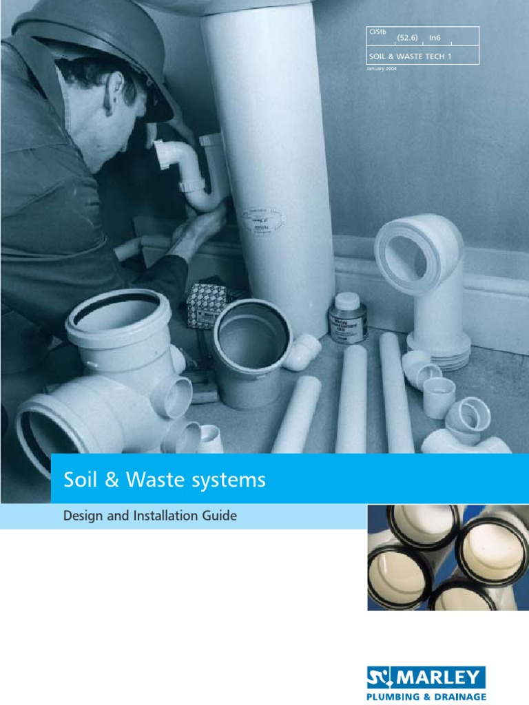 Marley Soil Waste Systems Design Installation Guide Pipe Piping Layout Handbook Fluid Conveyance Electrical Connector
