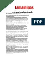 26-03-2014 Hoy Tamaulipas - Haciendo más músculo.