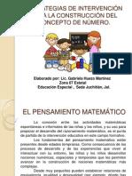 ESTRATEGIAS DE INTERVENCIÓN PARA DESARROLLAR EL PENSAMIENTO MATEMÁTICO - copia