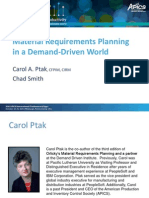 Material Requirements Planning in a Demand-Driven World 2