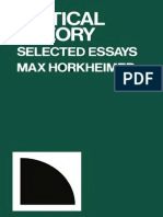 Horkheimer, Max - Critical Theory (Continuum, 1972)