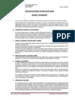 Especificaciones Tecnicas Manuel Veramendi