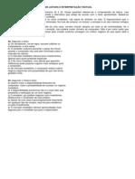 ATIVIDADES DE LEITURA E INTERPRETAÇÃO TEXTUAL
